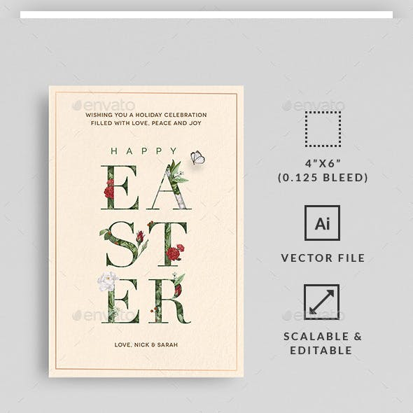 Classic Flower Easter Card
