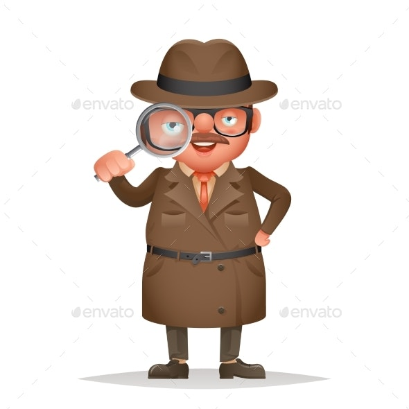 Magnifying Glass Detective Spy Investigation Coat - People Characters