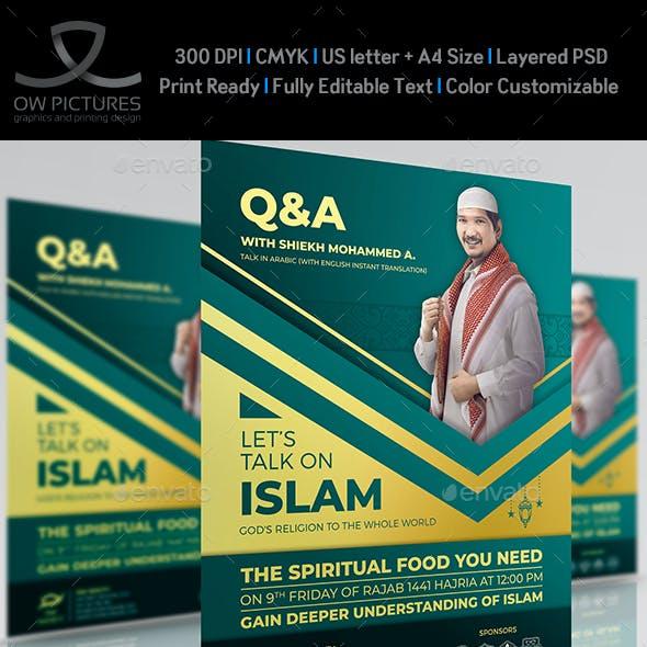 Islamic Talk Seminar Flyer Template