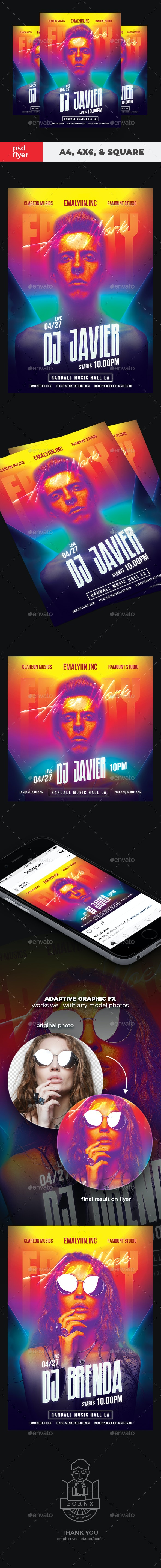 DJ Flyer Friday Party - Clubs & Parties Events
