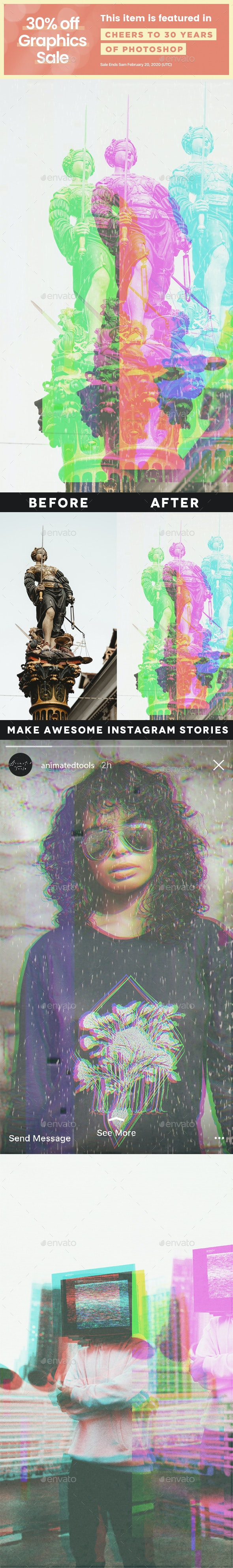 Animated VHS Instagram Stories Template v.2 - Artistic Photo Templates