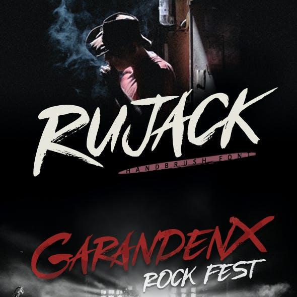 Rujack - Hand Brush Font