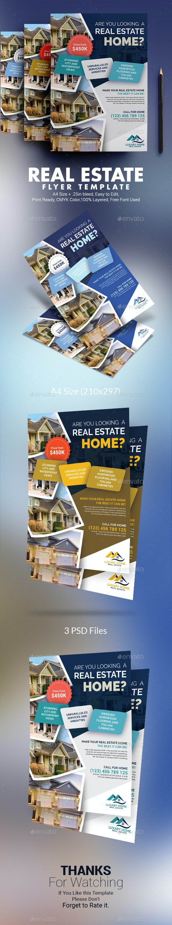 Real Estate Flyer Template - Corporate Flyers