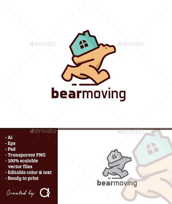 Bear Moving - Animals Logo Templates