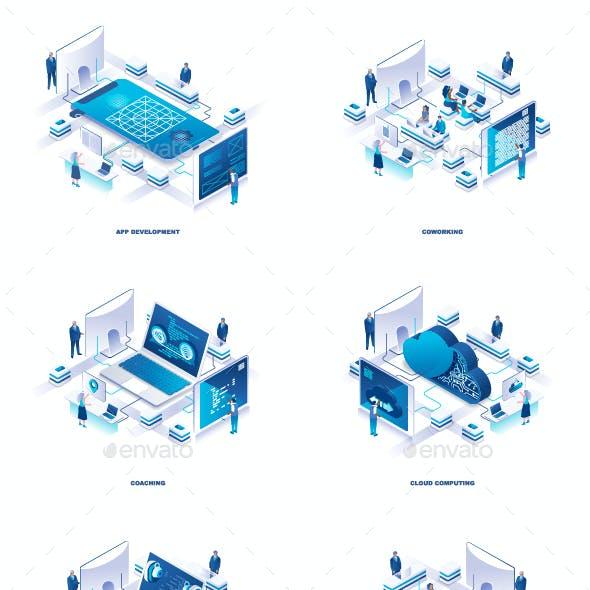 Flat Isometric 3D Illustration