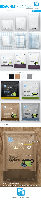 Sachet Mockup 02 - Food and Drink Packaging