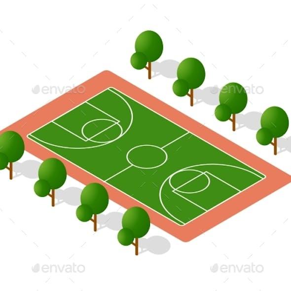 School Playground for Games for Schoolchildren