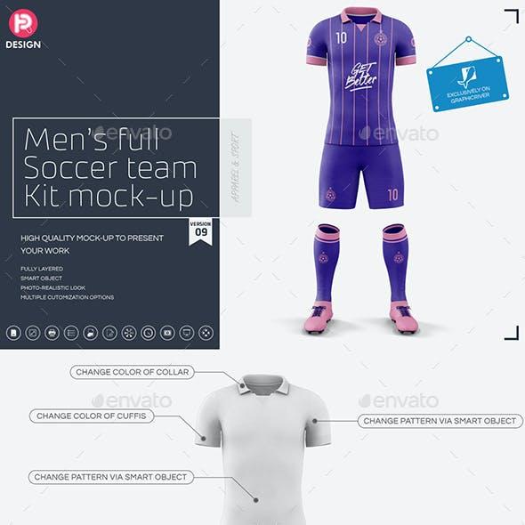 Men's Full Soccer Team Kit mockup V9