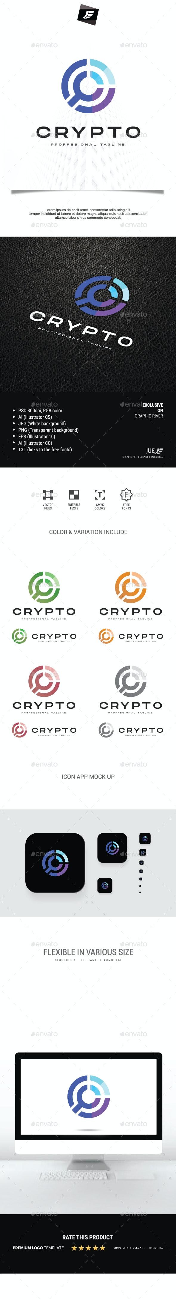 Letter C Crypto Finder Logo - Symbols Logo Templates