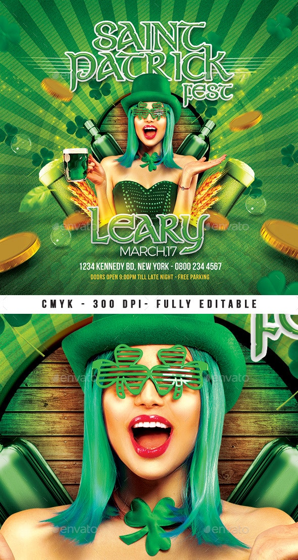 Saint Patrick Irish Day Party Flyer - Events Flyers