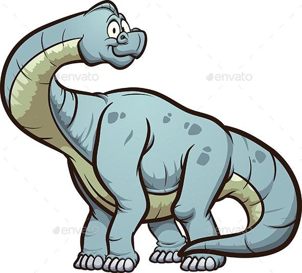 Cartoon  Braquiosaurus - Animals Characters