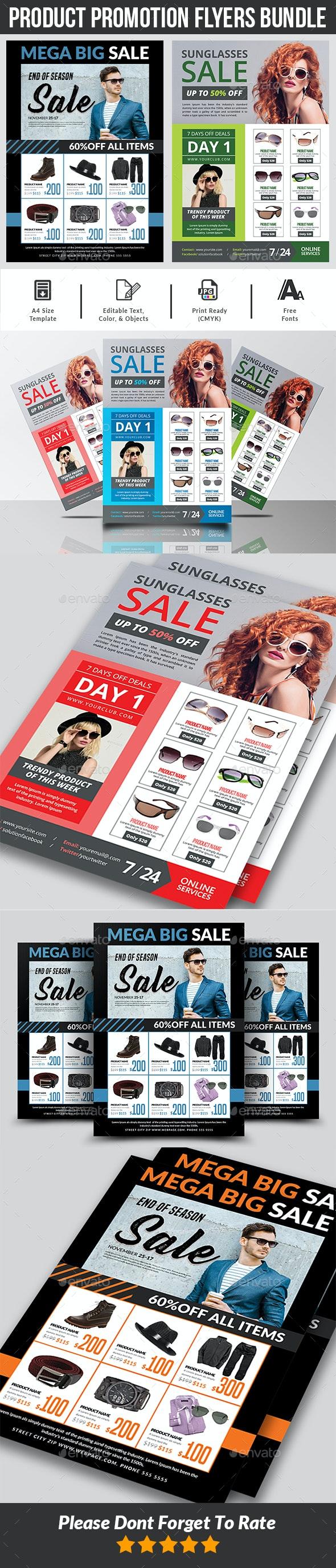 Product Promotion Flyer Bundle - Commerce Flyers