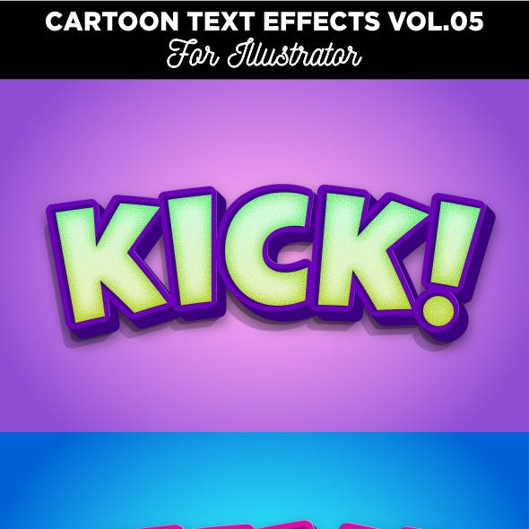 Cartoon Text Effect for Illustrator