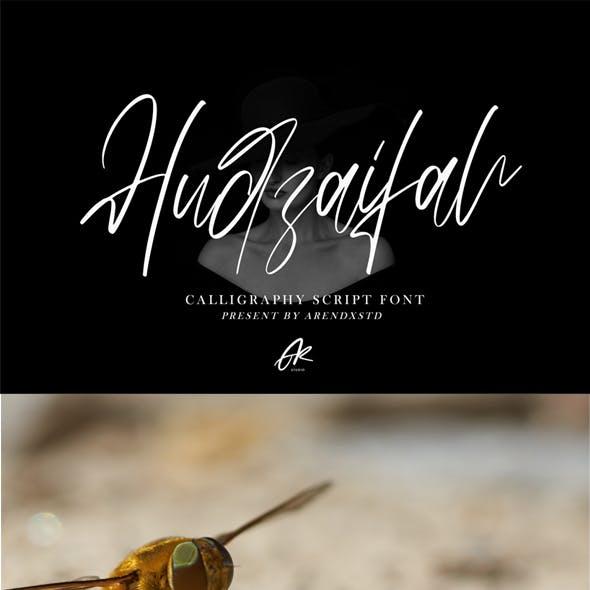 Hudzaifah Modern Calligraphy Font
