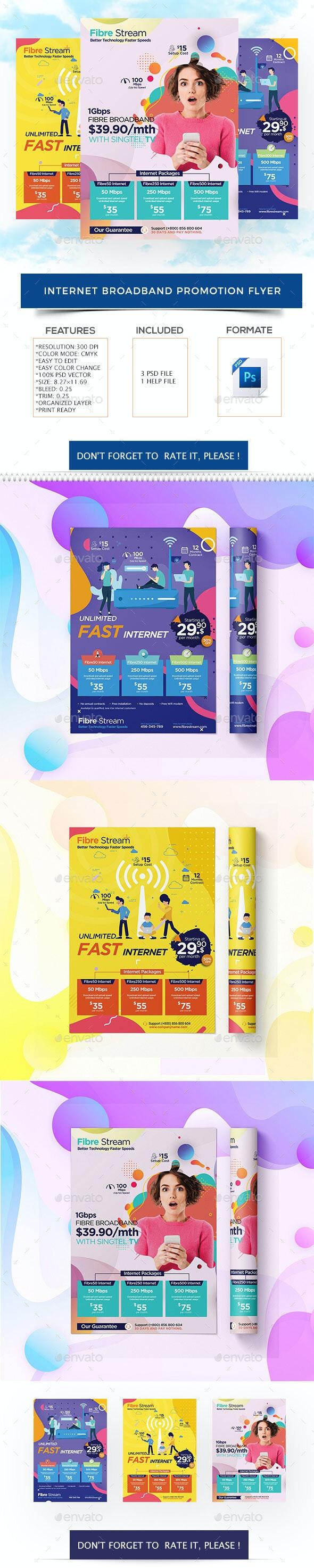Internet Broadband Promotion Flyer - Flyers Print Templates