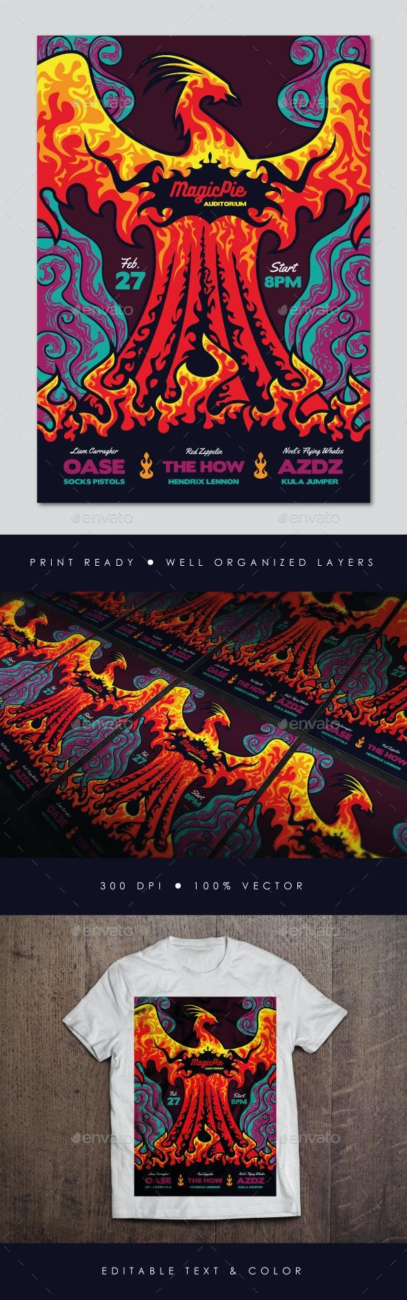 Phoenix Indie Rock Flyer - Concerts Events