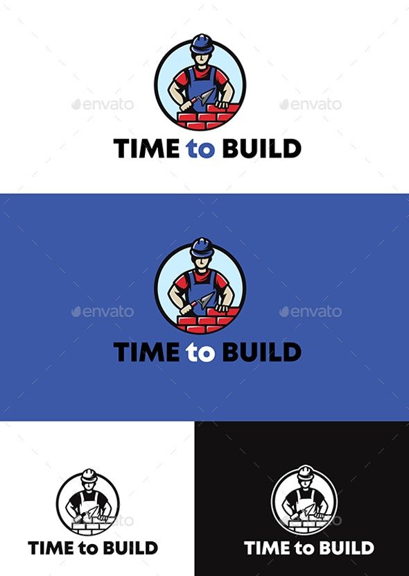 Time to build - Humans Logo Templates