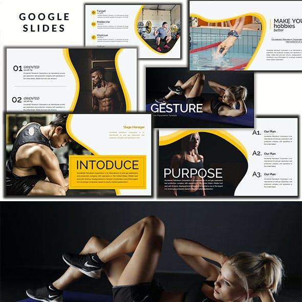 Gesture Athletics - Creative Google Slides Presentation
