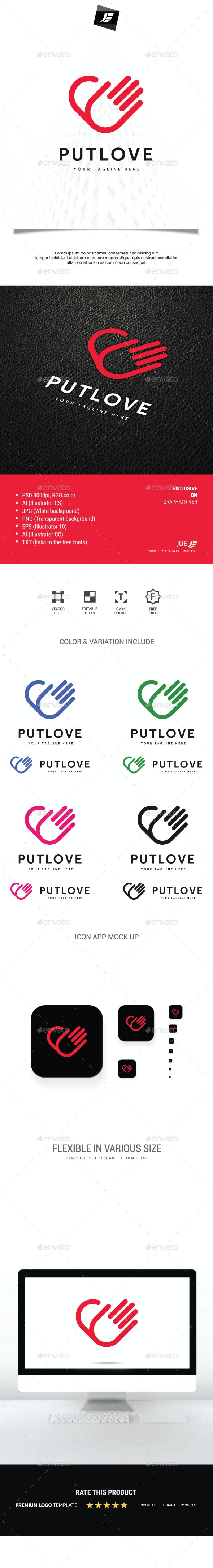Put Love Logo - Symbols Logo Templates