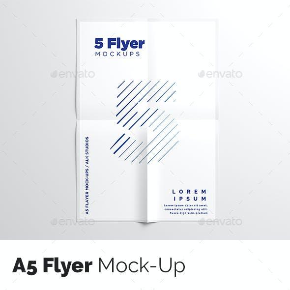 A5 Flyer Mock-Up