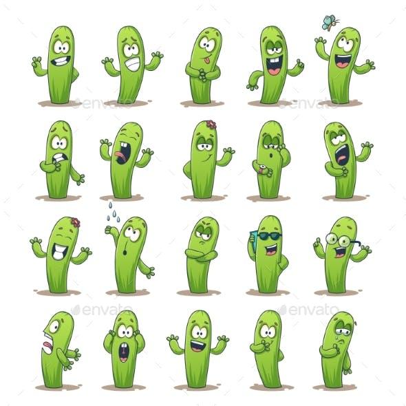 Cactus Sticker Set