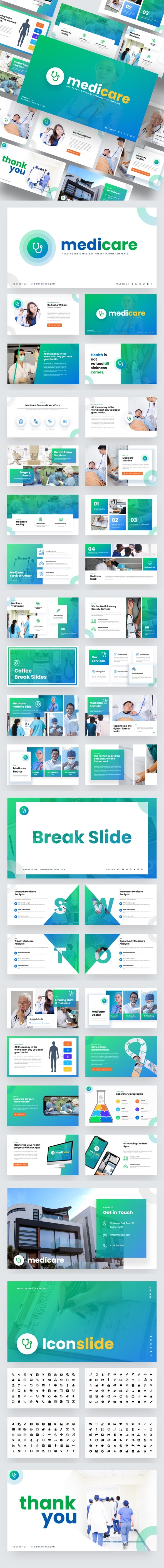 Medicare - Healthcare & Medical Powerpoint Template - Business PowerPoint Templates
