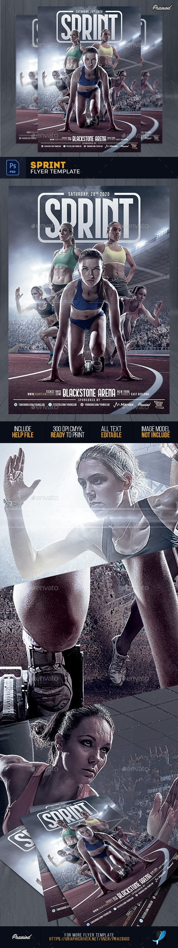 Sprint Flyer Template - Sports Events