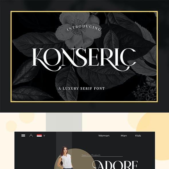 Konseric Luxury Font Serif