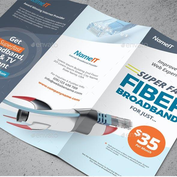 Internet Broadband Trifold & Bifold Brochure Templates
