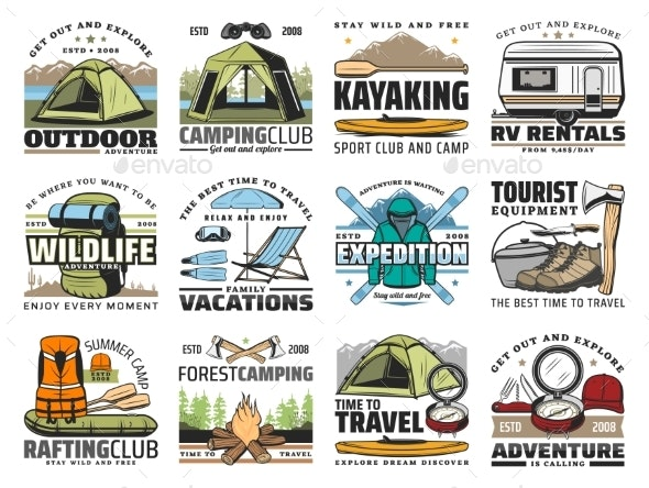 Camp Emblems - Sports/Activity Conceptual