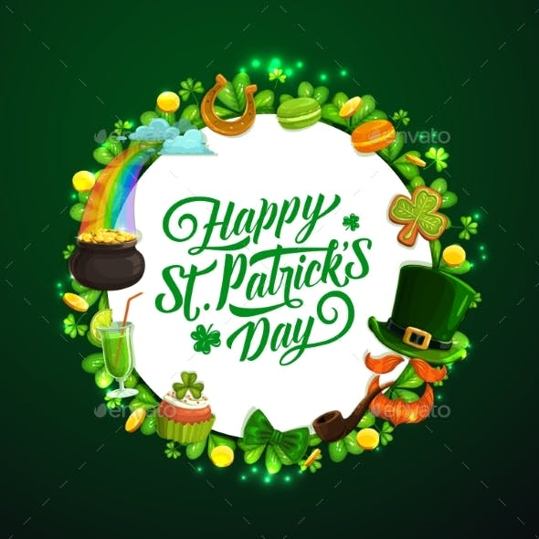 Patricks Day Holiday Signs Irish Spring Symbols