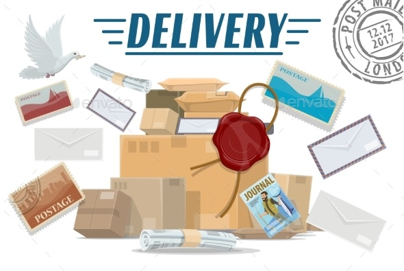 Parcels, Letters and Post Packages Mail Delivery - Industries Business