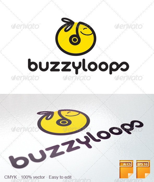 Buzzy Loops Logo - Animals Logo Templates