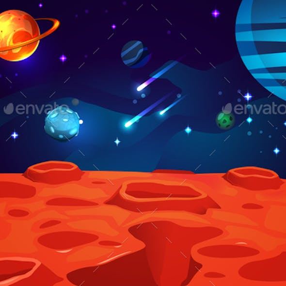 Space Cartoon Game Background