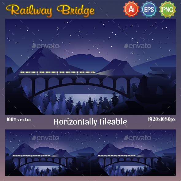 Game Background Railway Bridge