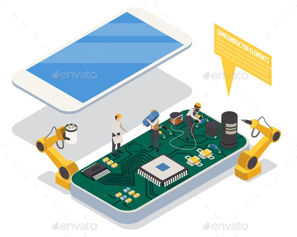 Semiconductor Element Concept - Industries Business