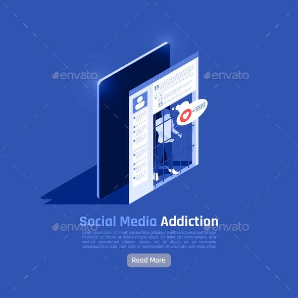 Social Networks Addiction Background - Media Technology