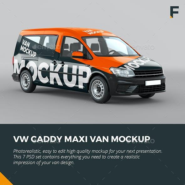 VW Caddy Maxi Van Mock up