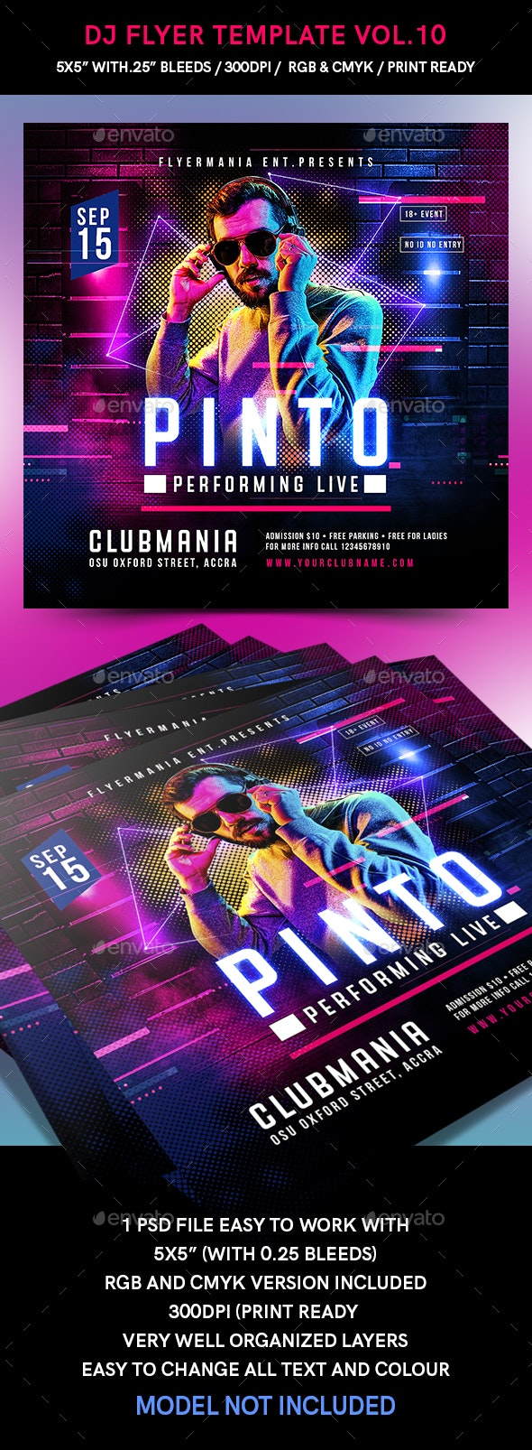 DJ Flyer Template Vol.10 - Events Flyers