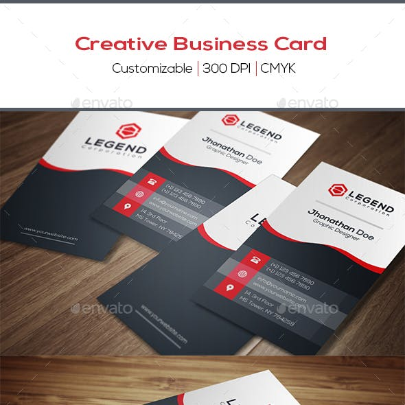 Creative Business Card Back Side