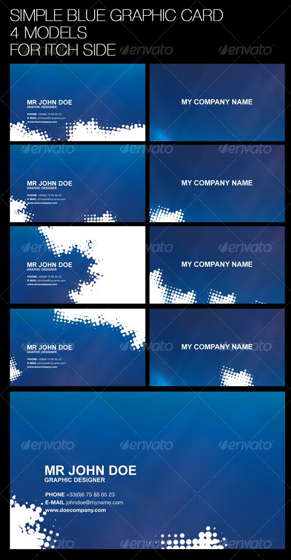 GRAPHIC BLUE CARD - Creative Business Cards