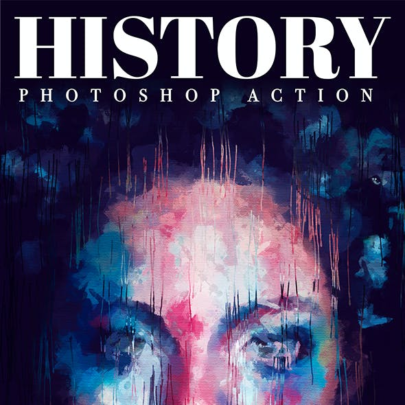 History - Realistic Painting Art Photoshop Action