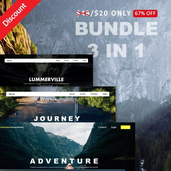 Bundle Adventure 3 IN 1 PowerPoint Template
