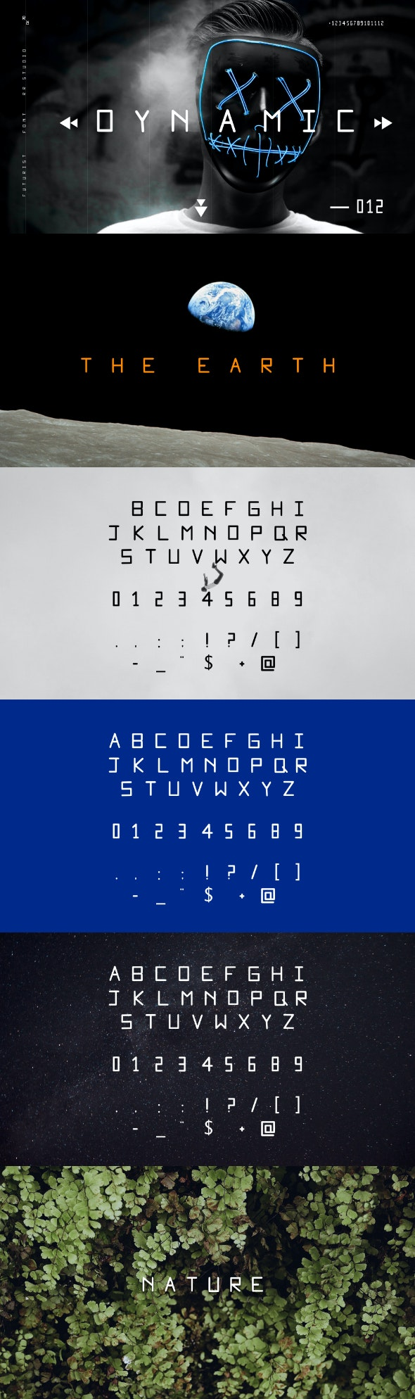 Dynamic Font - Monospaced Sans-Serif