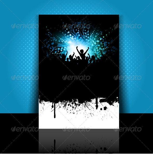 Party flyer layout - Backgrounds Decorative