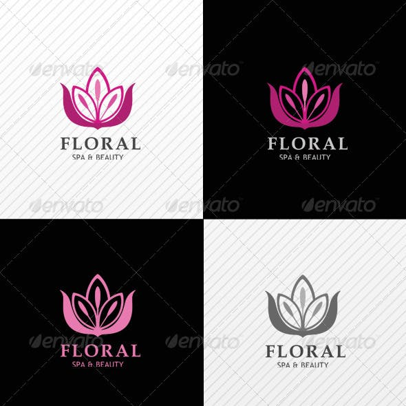 Floral Beauty Spa Logo Template