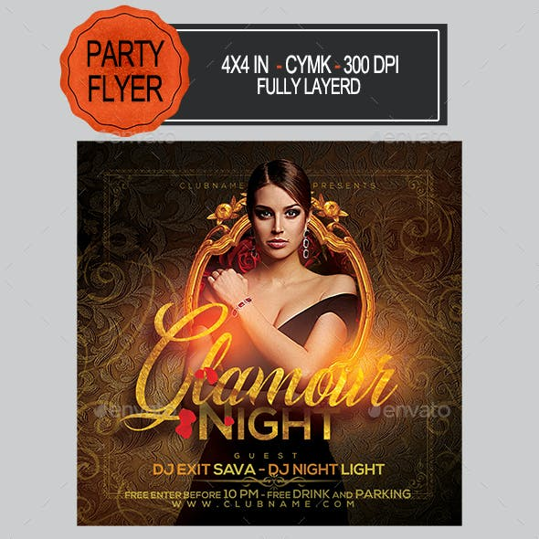 Glamour Night Party Flyer