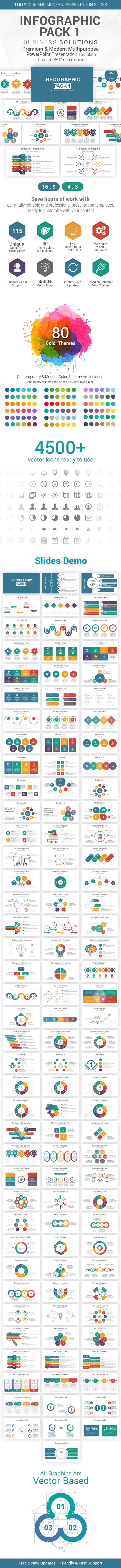 Infographics Pack-1 PowerPoint Presentation Template - Business PowerPoint Templates