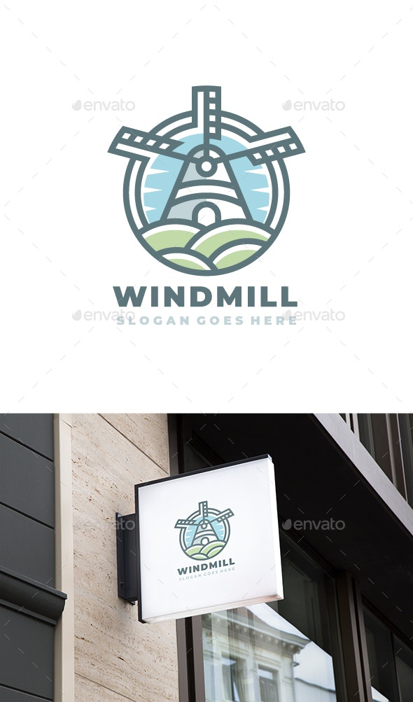Wind Mill Logo - Buildings Logo Templates