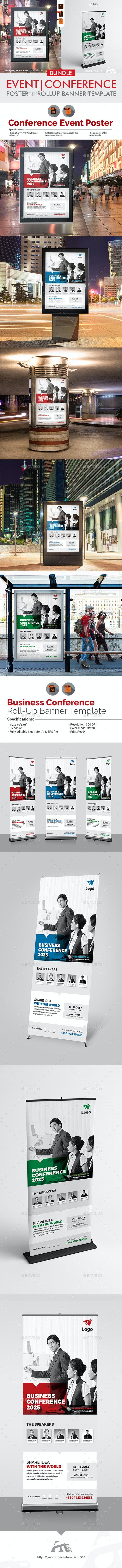 Event/Conference Signage Bundle - Signage Print Templates
